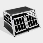 Aluminum Dog cage Small Double Door Dog cage 65a 89cm 06-0770 Aluminum Dog cage Small Double Door Dog cage 65a 89cm 06-0770