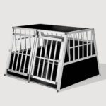 Aluminum Dog cage Large Double Door Dog cage With Separate board 65a 104 06-0776 Aluminum Dog cage Large Double Door Dog cage With Separate board 65a 104 06-0776